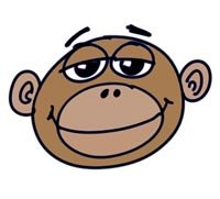 How to Draw a Funny Monkey Face