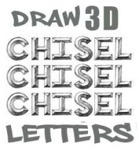 How to Draw 3D Chisel Letters