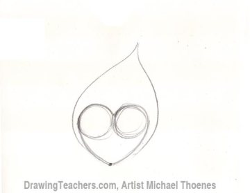 How to Draw a heart-with-Flames Step 3