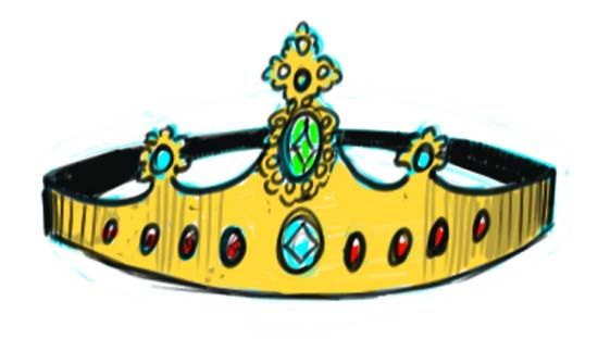 How to Draw a Crown Step 10