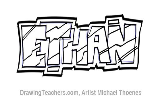 Graffit Letters Ethan