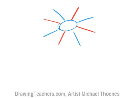 How to Draw a Cartoon Flower 3