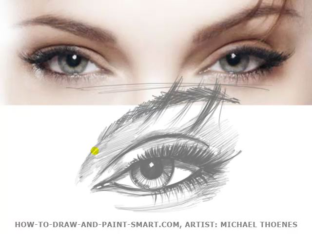how to draw eye pupils