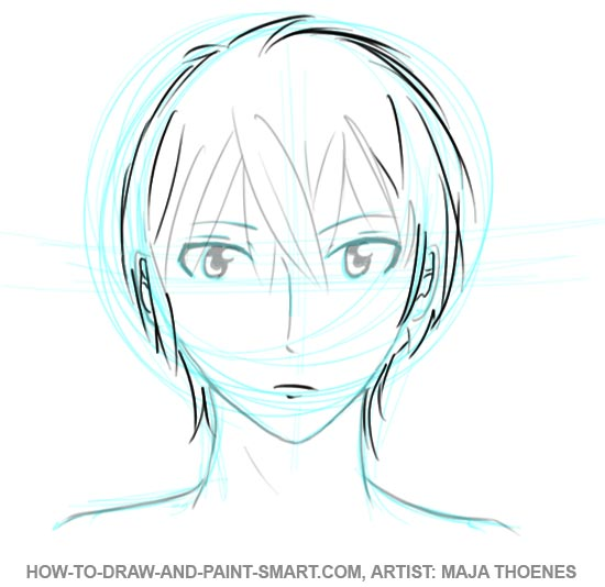 How to Draw Anime Boys Face Step 5