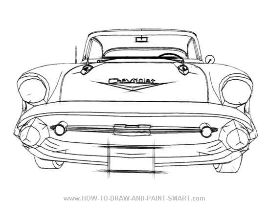 How to Draw a 57 Chevy Bel Air