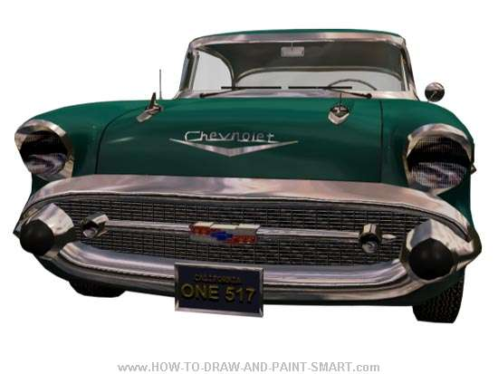 57 Chevy Bel Air Front Color