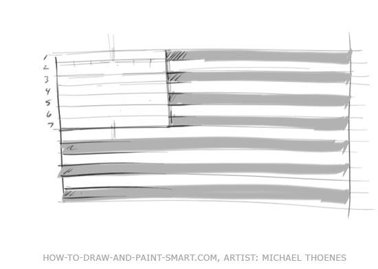 American Flag Graphics Step 3