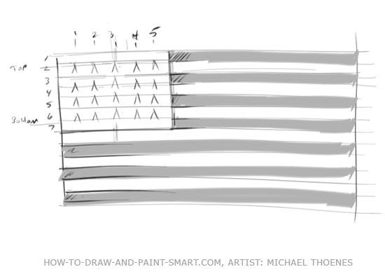 American Flag Graphics Step 4