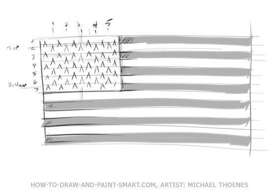 American Flag Graphics Step 5