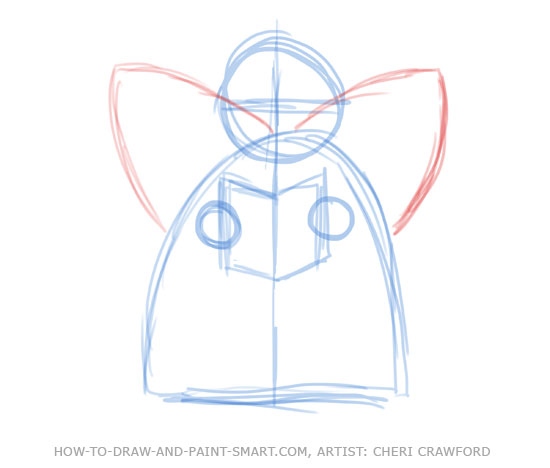 Angel Drawing Tutorial Angel Drawing 5