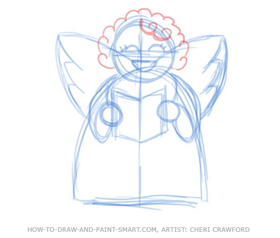 Angel Drawing Tutorial Angel Drawing 8