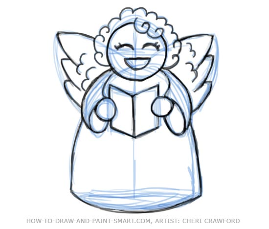 Angel Drawing Tutorial Angel Drawing 9