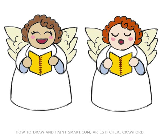 how to draw angels