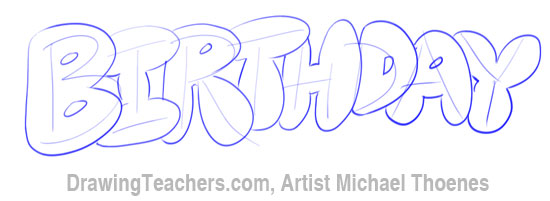 Free coloring pages of happy in bubble letters