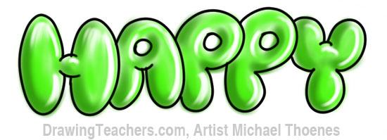Bubble Letters 9