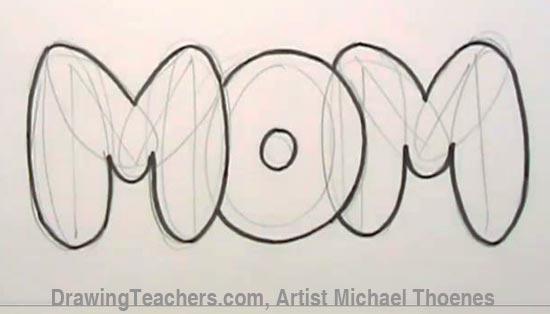 How To Draw Graffiti Hearts Graffiti bubble letters mom