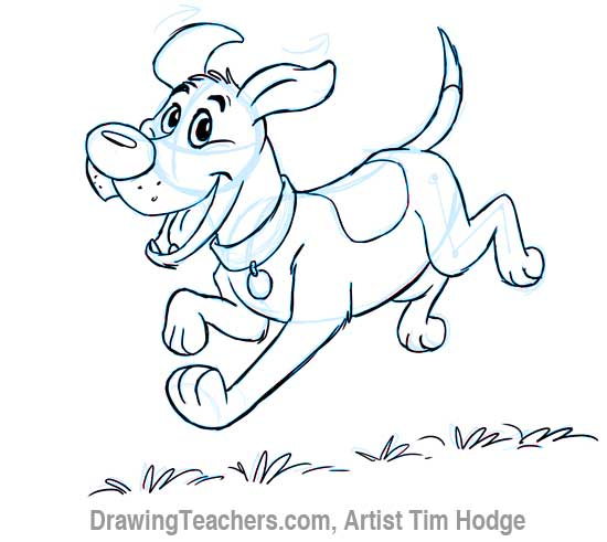 How to draw a cartoon dog - photo#28