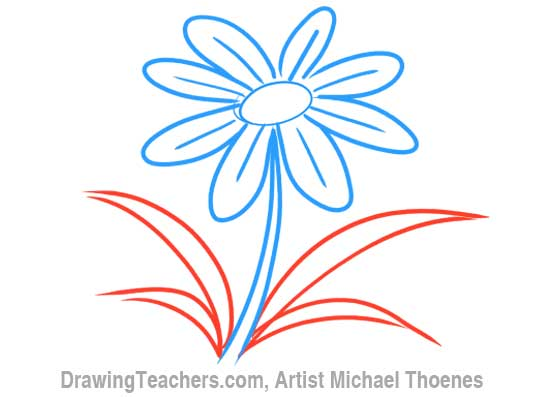 How to Draw a Cartoon Flower 6