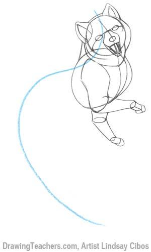 How to Draw a Cartoon Fox Step 3