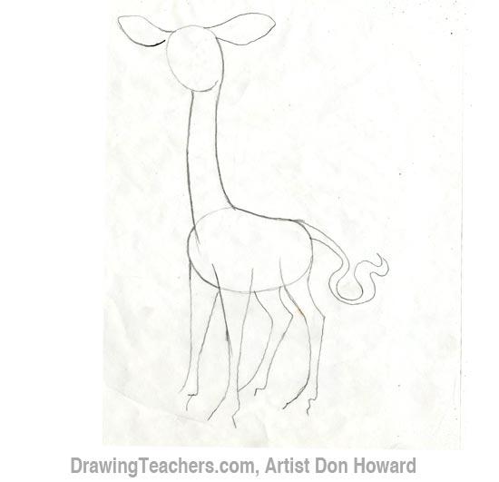 Cartoon Giraffe 2