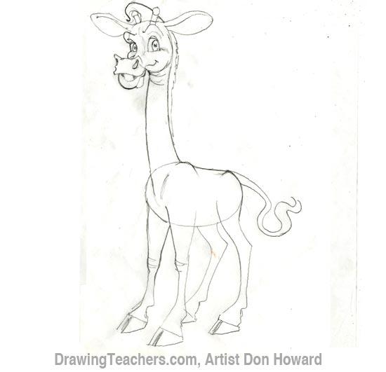 Cartoon Giraffe 3