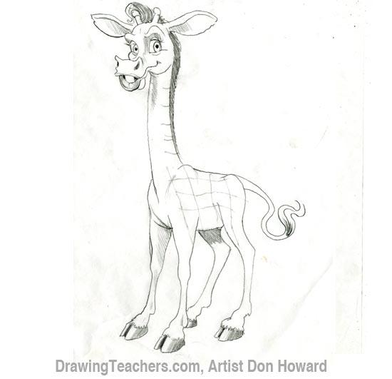 Cartoon Giraffe 5