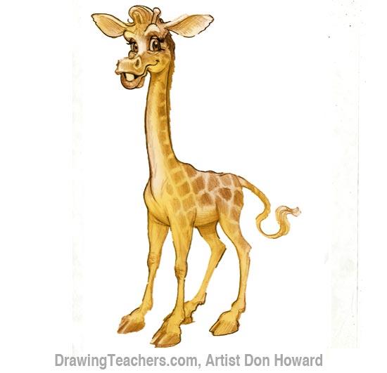 Cartoon Giraffe 8