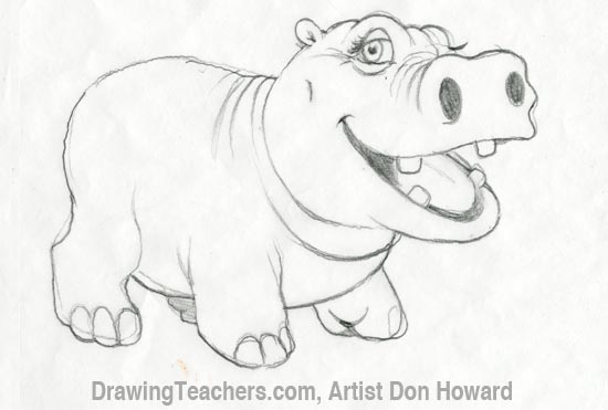 Cartoon Hippo 5