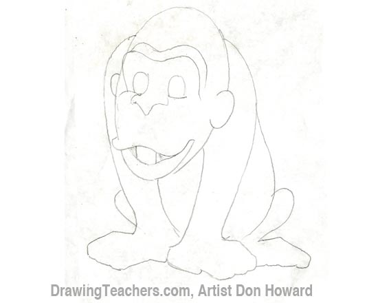 Cartoon Monkey 3