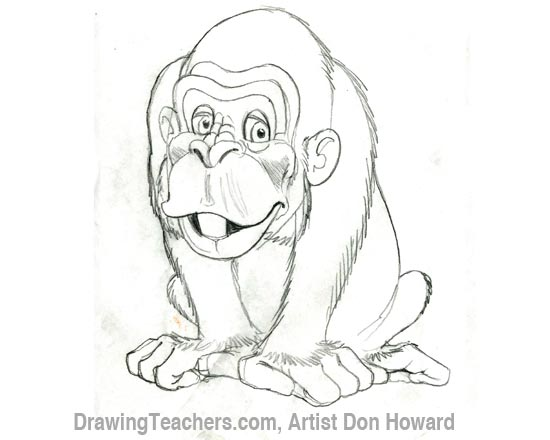 Cartoon Monkey 4