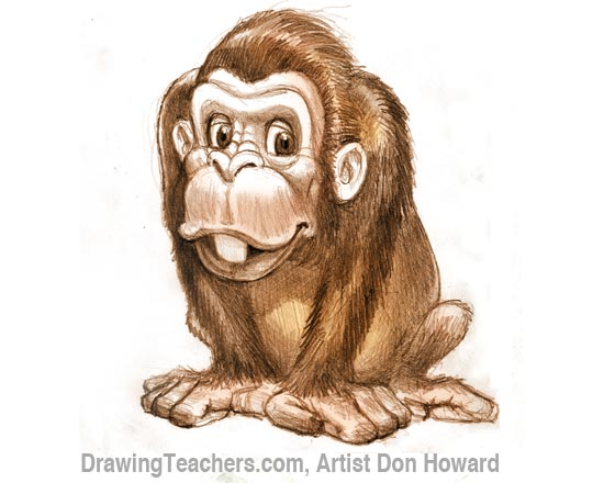 Cartoon Monkey 8