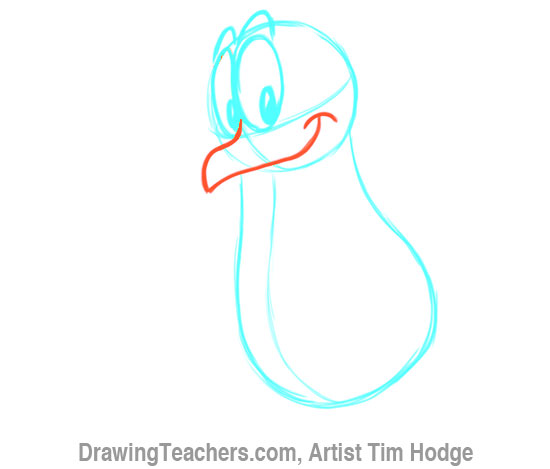 How to Draw a Cartoon penguin 6