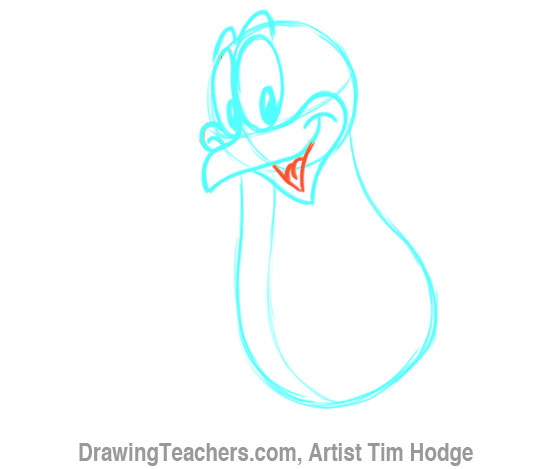 How to Draw a Cartoon penguin 8