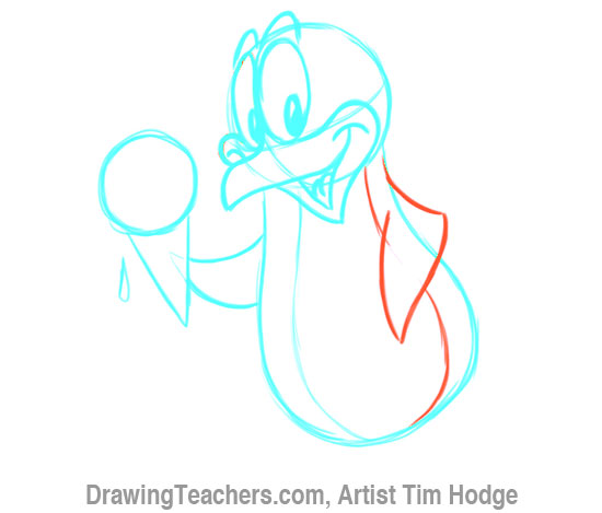 How to Draw a Cartoon penguin 11