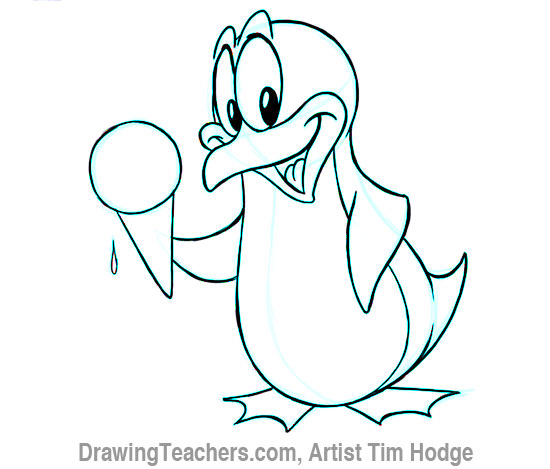Cartoon penguin