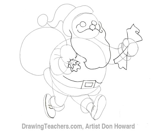 Cartoon Santa Claus 3
