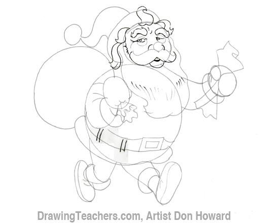 Cartoon Santa Claus 4