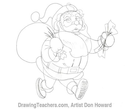 Cartoon Santa Claus 5