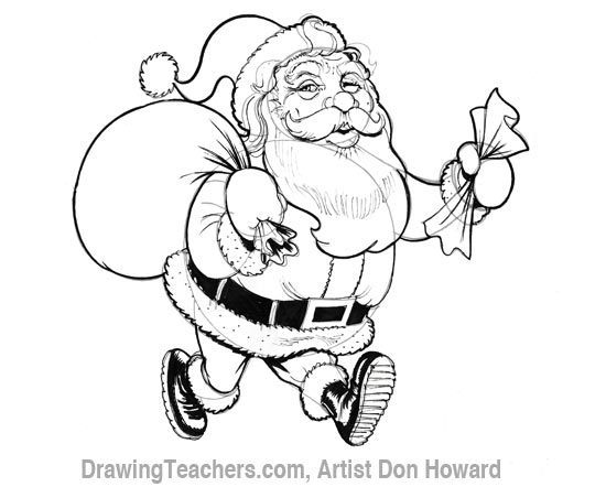 Cartoon Santa Claus 6
