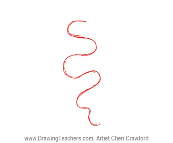 Chinese Dragon Drawing Step 1
