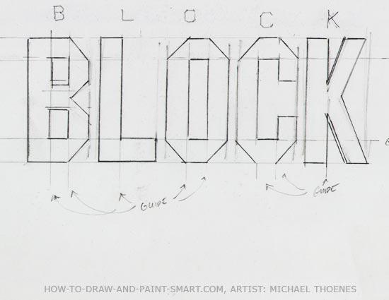 3d block letters 3