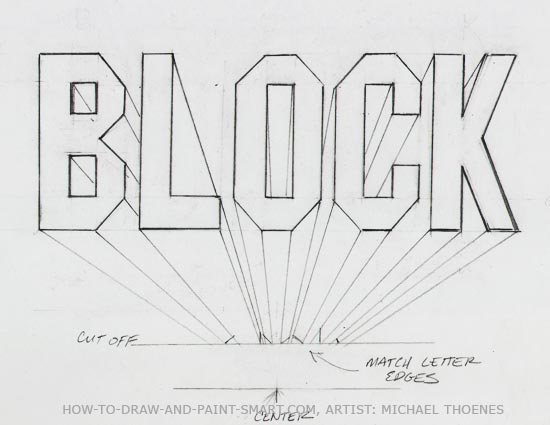 Drawing Lines With Word : Draw d block letters