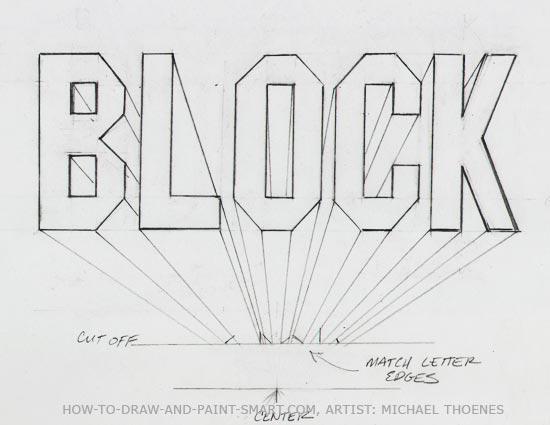 3d block letters 6