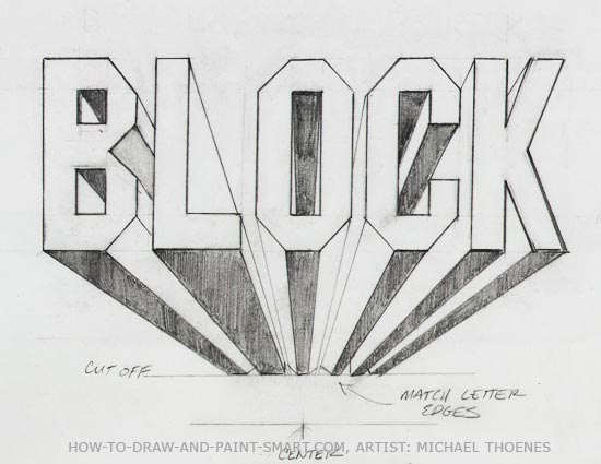 3D Block Letters Drawing Art Lesson 8