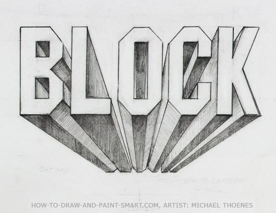 how to draw 3d block letter a z | Emanuell blog