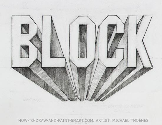 3d block letters 8