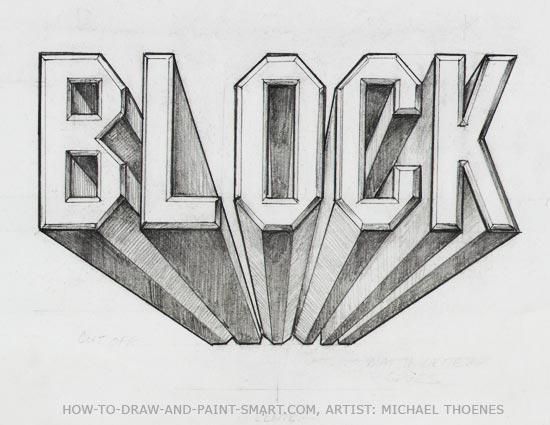 3d block letters 9