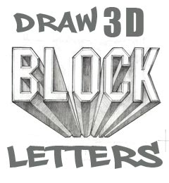 Draw 3d Block Letters