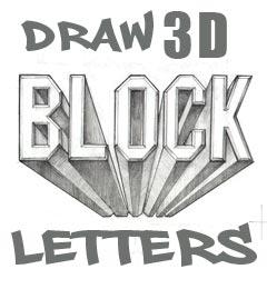 d alphabet names  Draw 3D Block Letters