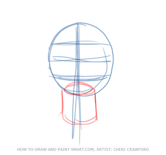 Draw a Human Face Drawing 3